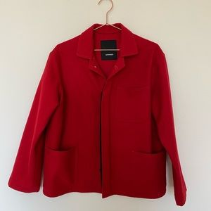 Assembly red wool jacket